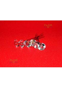 Флористическая бриллиантовая булавка. 11 мм