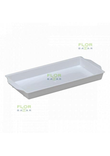 Плошка под флористический кирпич OASIS® Sandwich Bowl. Белая