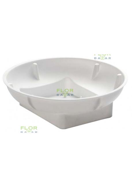 Плошка под пол кирпича оазис OASIS® Round Bowl. Белая