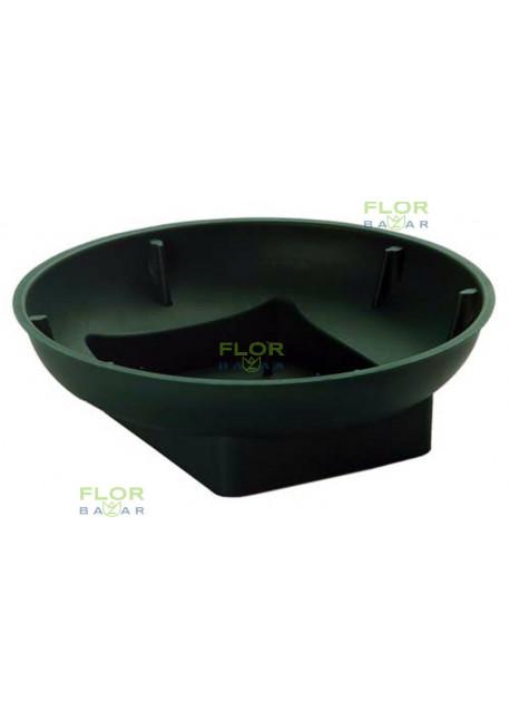 Плошка под пол кирпича оазис OASIS® Round Bowl. Зелёная