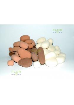 Цветная пена оазис Камешки OASIS® RAINBOW®. Песочный/глина/шоколад, 8 см.
