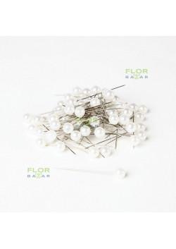 Белая флористическая булавка Paula. 5,5 мм