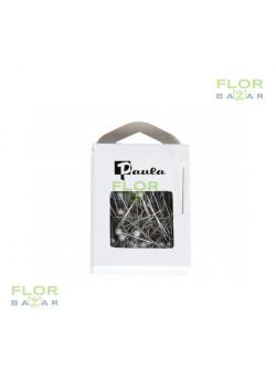 Біла флористична шпилька Paula. 4 мм