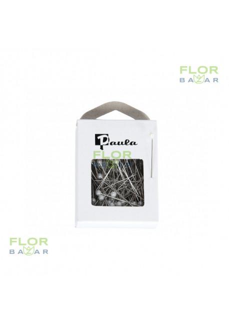 Флористическая белая булавка Paula. 5,5 мм