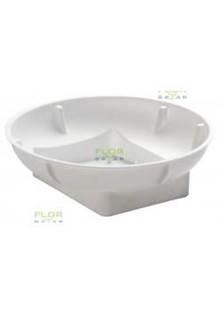 Плошка OASIS® Round Bowl, круглая белая