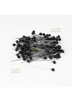 Чёрная флористическая булавка Paula 5,5 мм