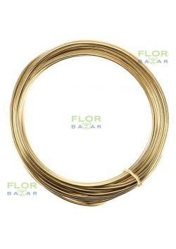 Флористическая проволока. Светлое золото. 2 мм*5 м