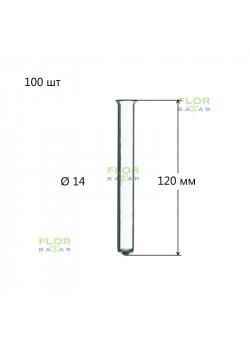Стеклянные пробирки для цветов 14 х 120 мм. 50 шт